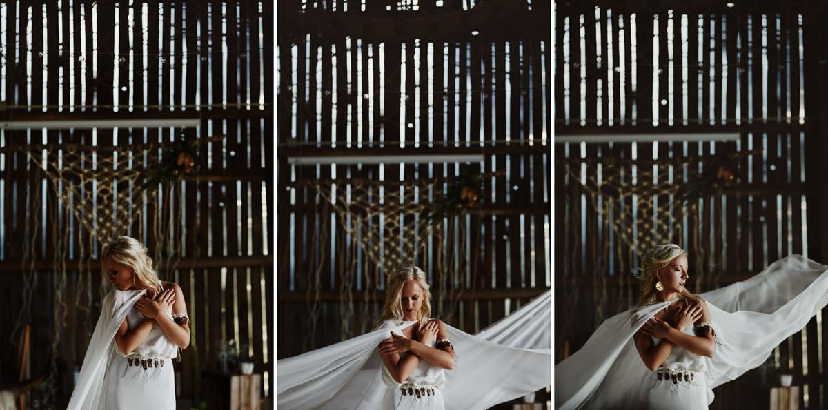 Folwark Wiązy - suknia ślubna boho