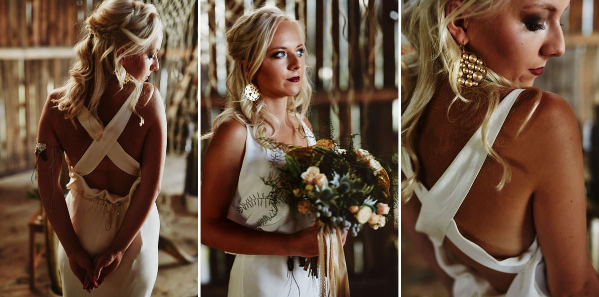 Suknia ślubna boho - portret ślubny