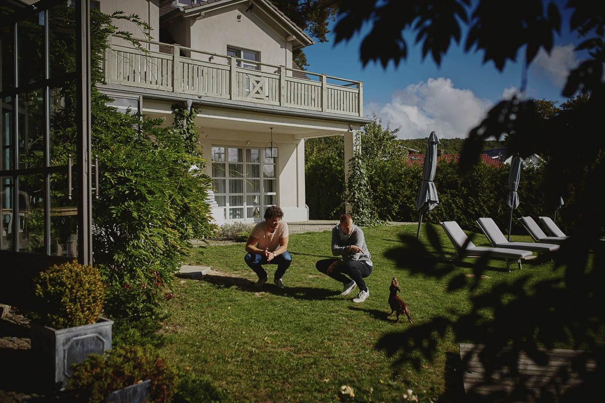 villa park trawnik przez lokalem