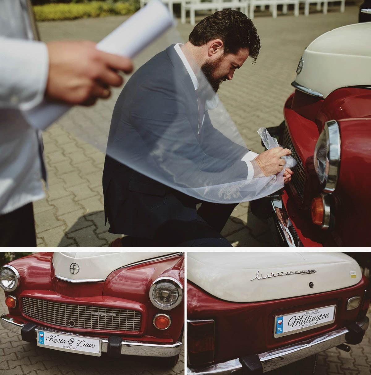strojenie auta ślubnego