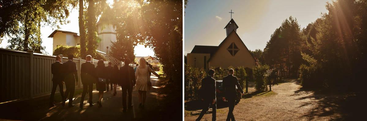 kościoł wisełka - w drodze do koscioła