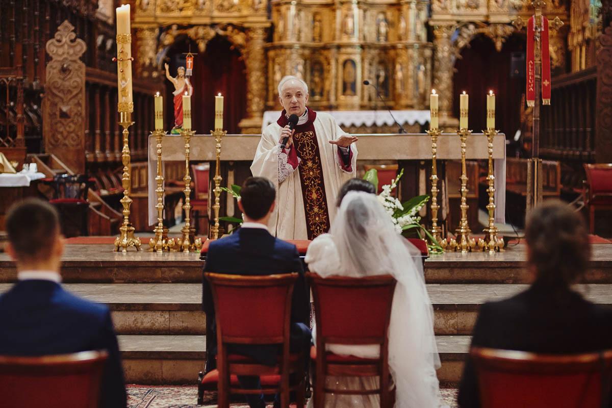 ślub w kościele - kazanie - zamek gniew