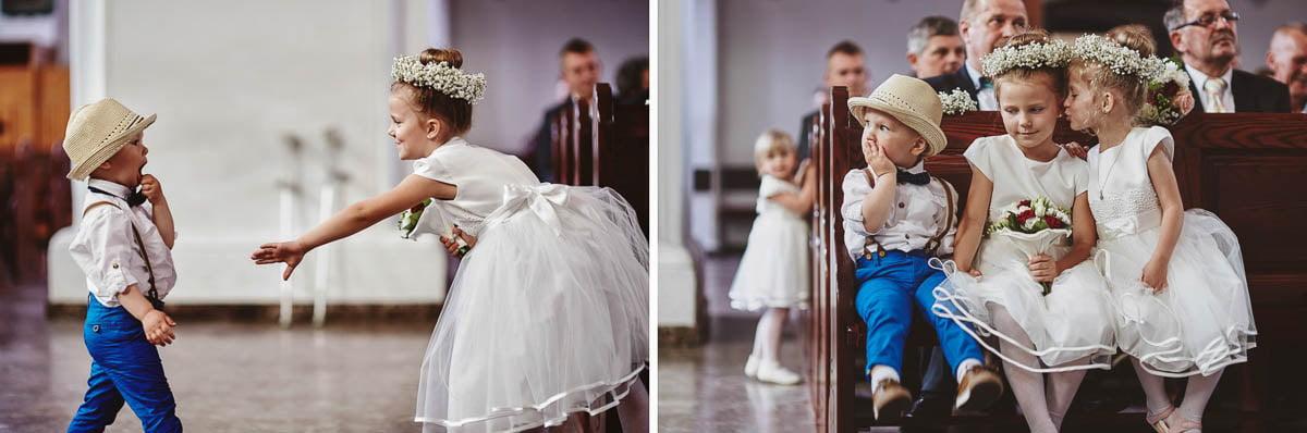 ceremonia ślubna - dzieci na mszy