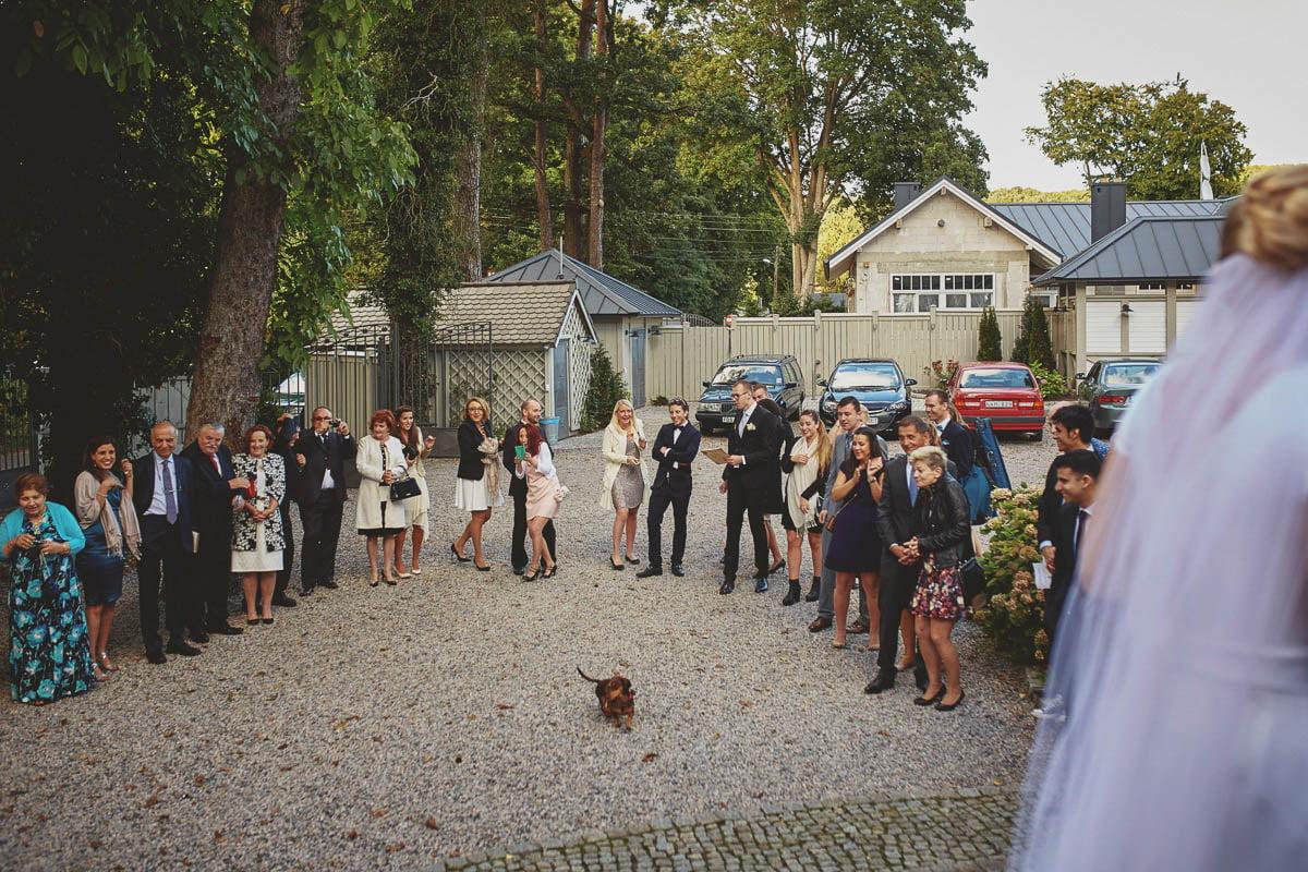 villa park wisełka - goście przed salą