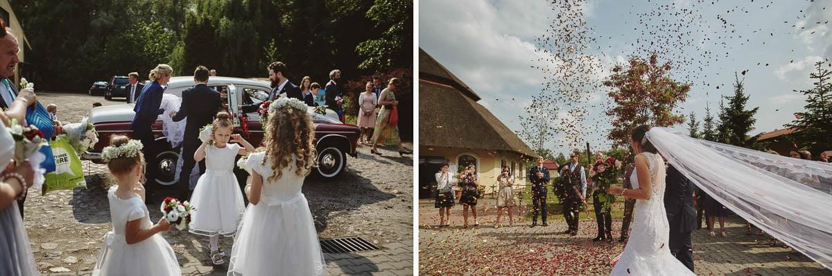 wolwark wirówek wesele - przywitanie młodcyh