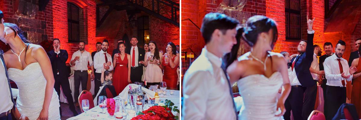 zamek gniew wesele - młodzi się całoują