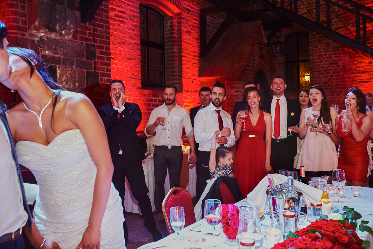 zamek gniew wesele - reakcje gości