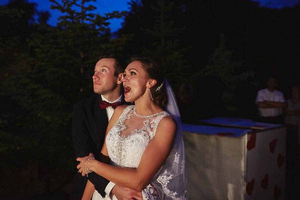 wolwark wirówek wesele - pokaz fajerwerków na weselu