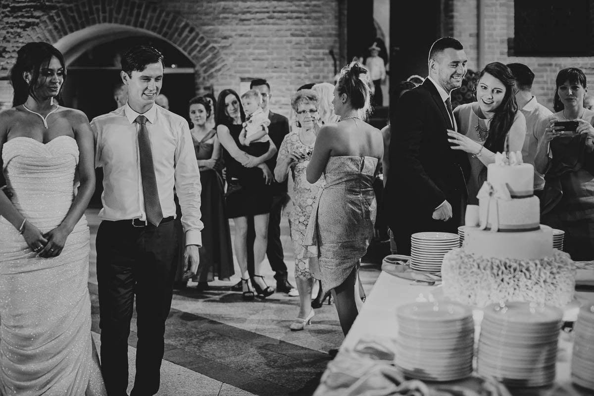 zamek gniew wesele - tort weselny