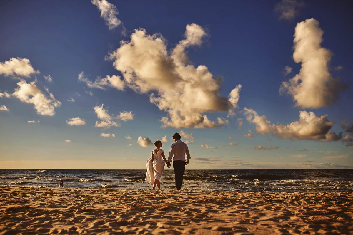 sesja nad morzem - plaża Wisełka