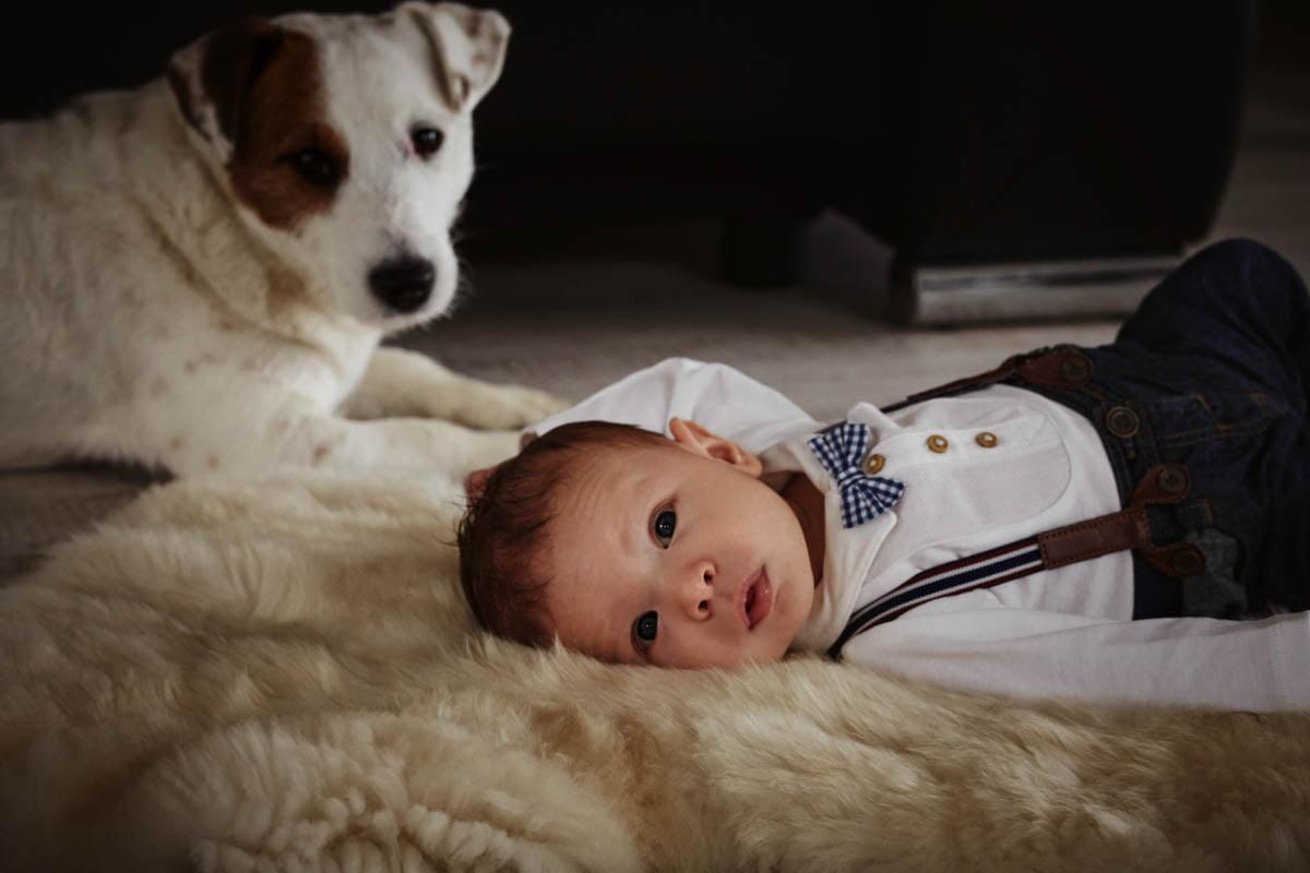 sesja rodzinna Świnoujście - sesja z psem