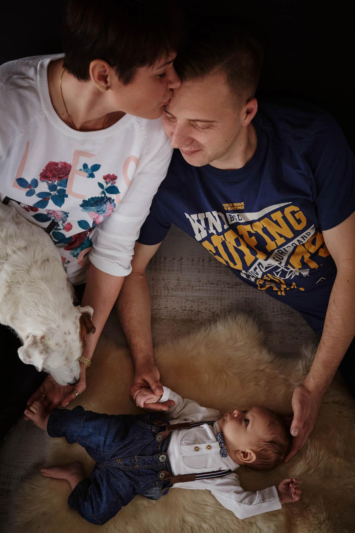 sesja rodzinna Świnoujście - dziecko i rodzice