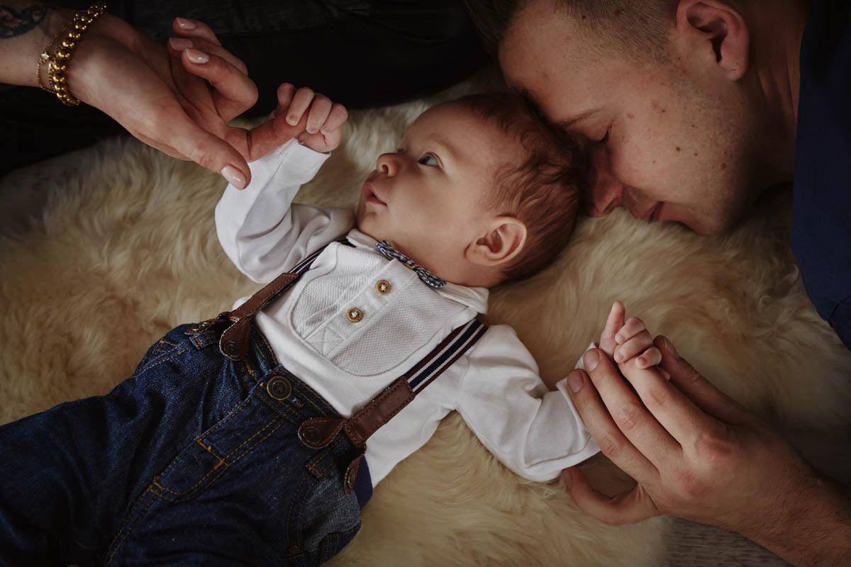 sesja rodzinna Świnoujście - rodzice i dziecko