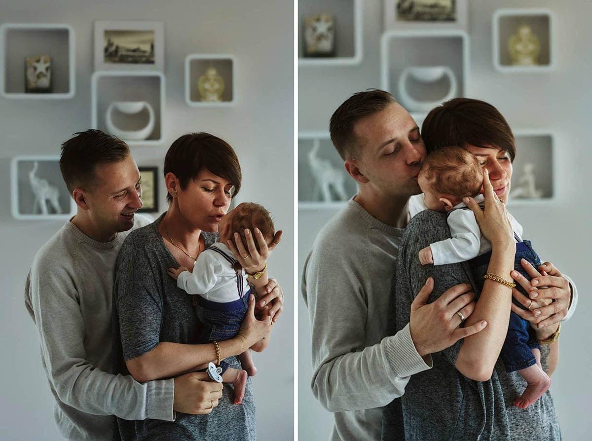 sesja rodzinna Świnoujście - mama tata i dziecko
