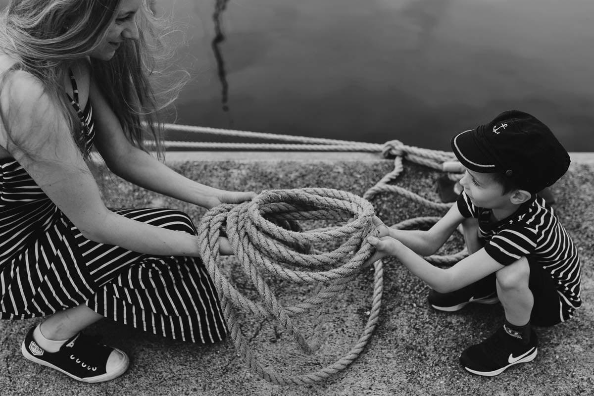 Ciągle marzę aby zostać marynarzem - sesja rodzinna Świnoujście 13