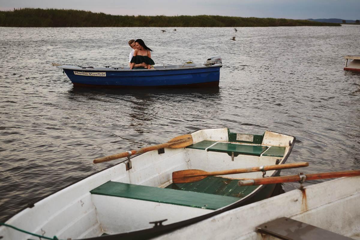 sesja nad morzem - na łodzi