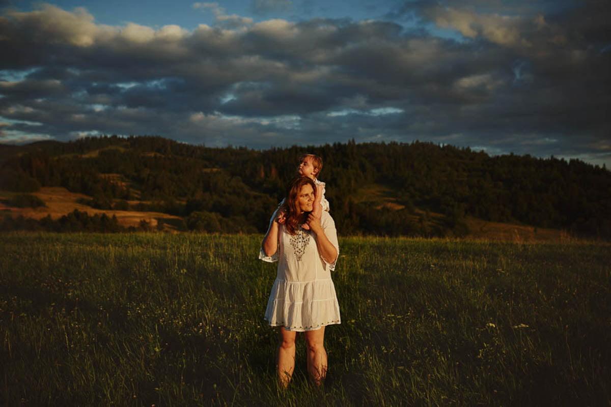 sesja rodzinna w górach - mama i córka