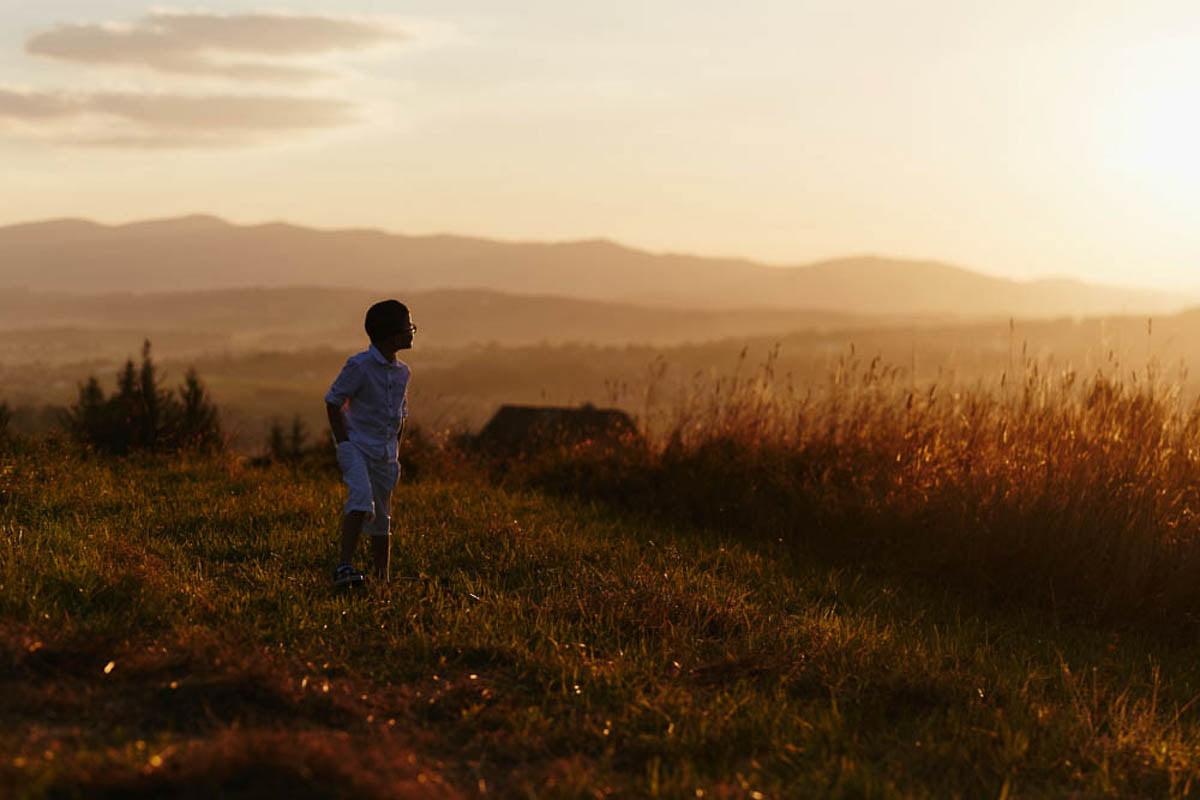 sesja rodzinna w górach - chłopiec