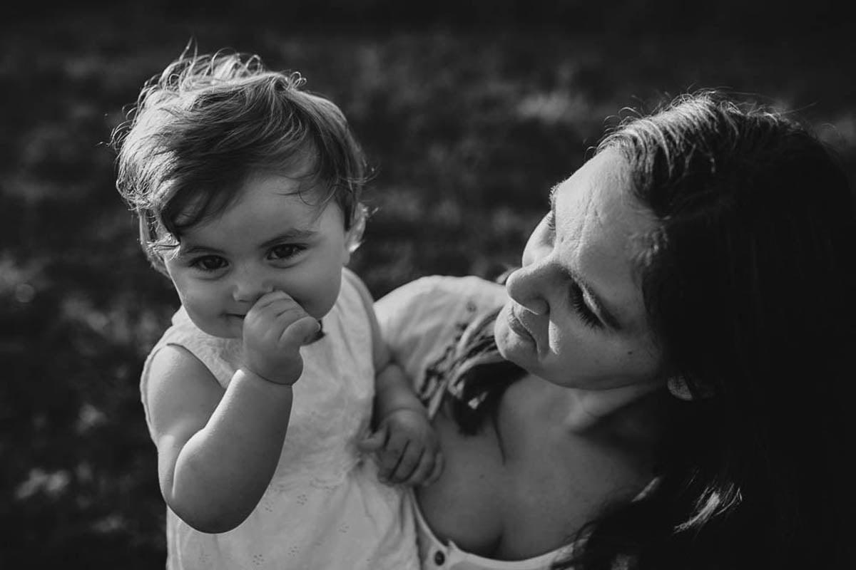 sesja rodzinna w górach - portret z mamą