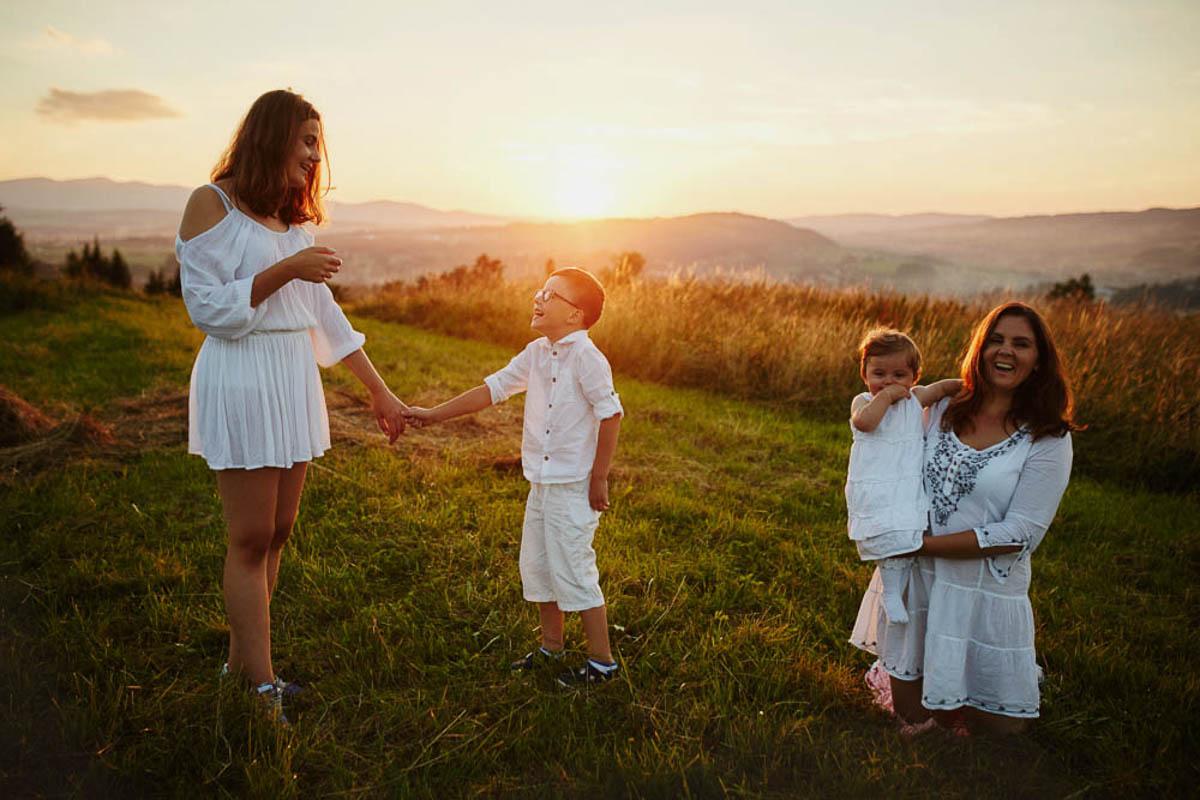 sesja rodzinna w górach - rodzina