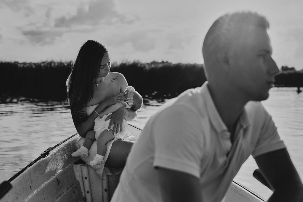 sesja rodzinna Świnoujście - na łódce
