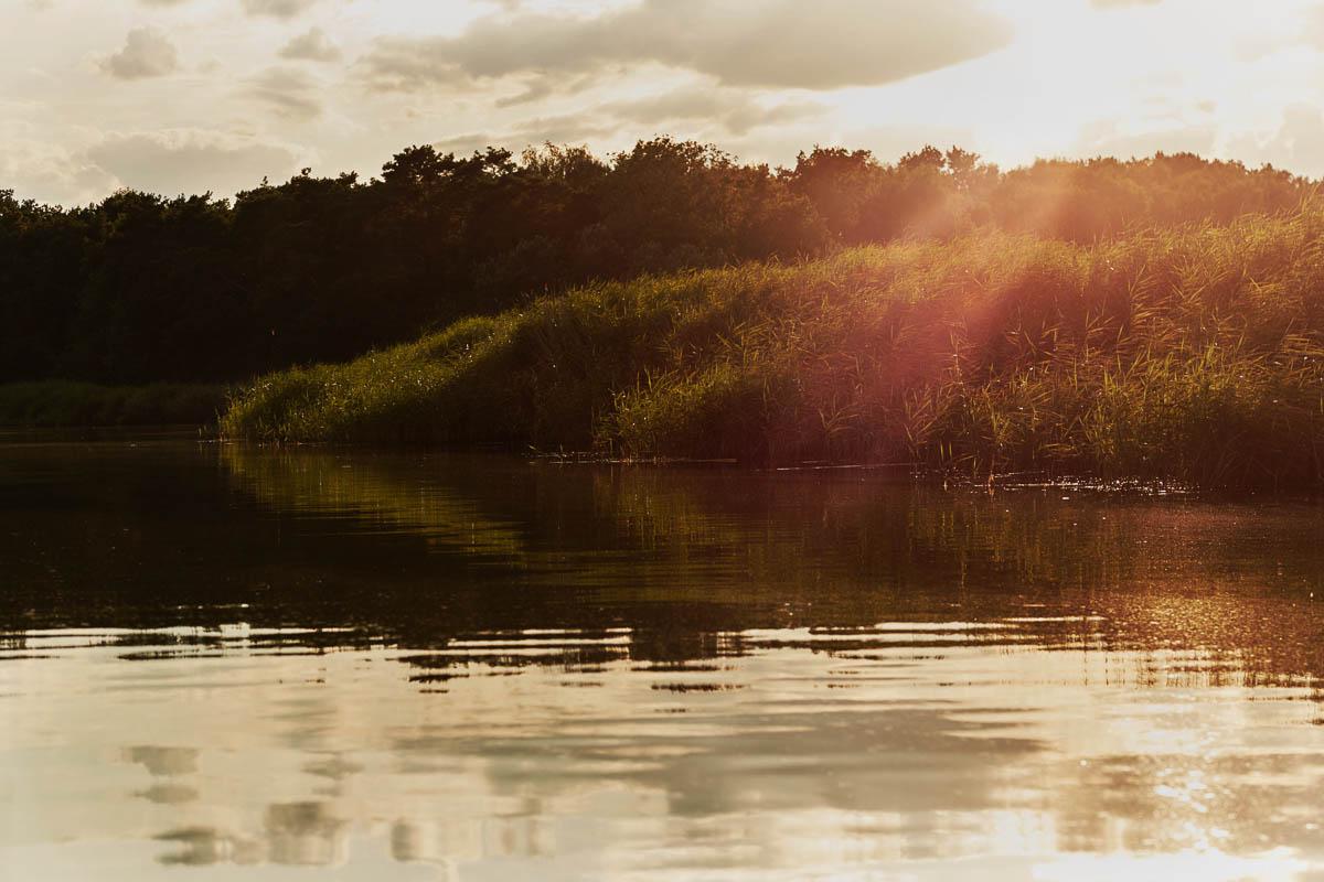 Karsibów - zalew zachód słońca