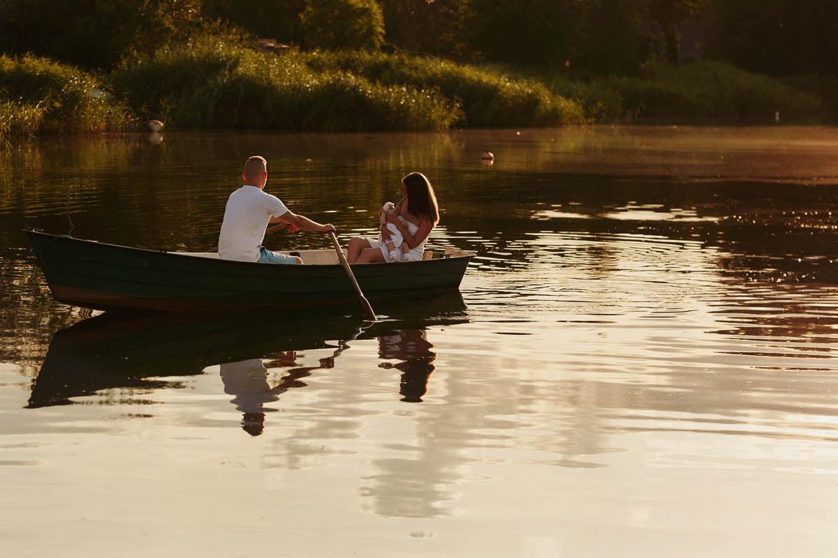 sesja rodzinna Świnoujście - sesja na łodzi