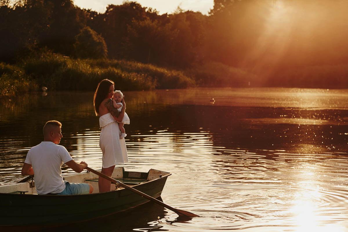 sesja rodzinna Świnoujście - sesja o zachodzie słońca