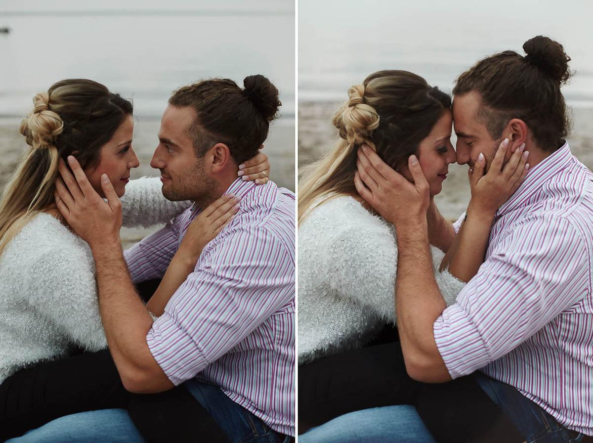 sesja narzeczeńska - przytulona para
