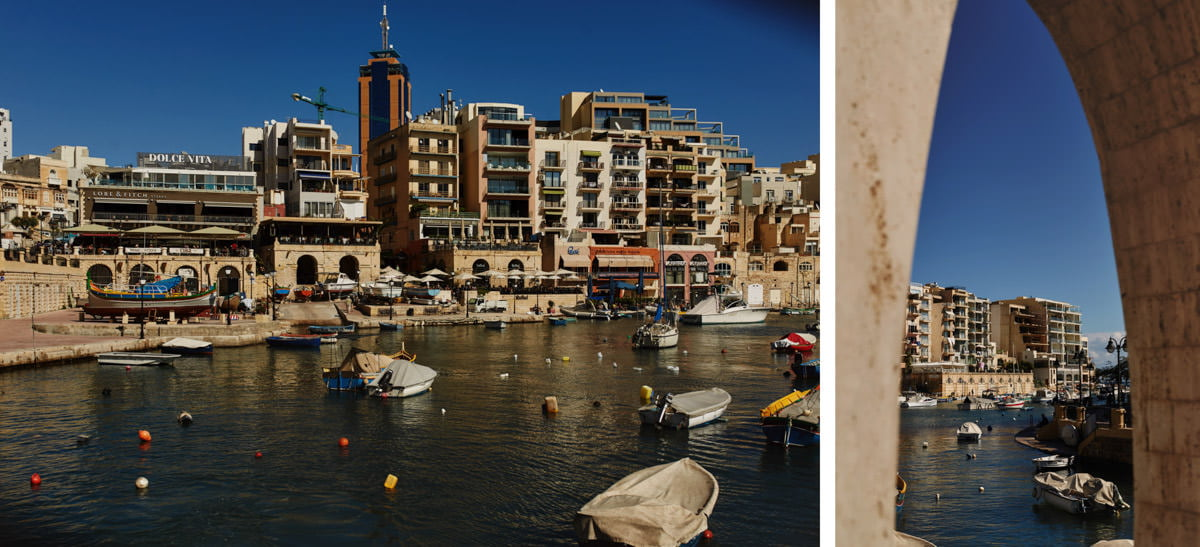 zdjecia ślubne malta - San Julian widok na miasto