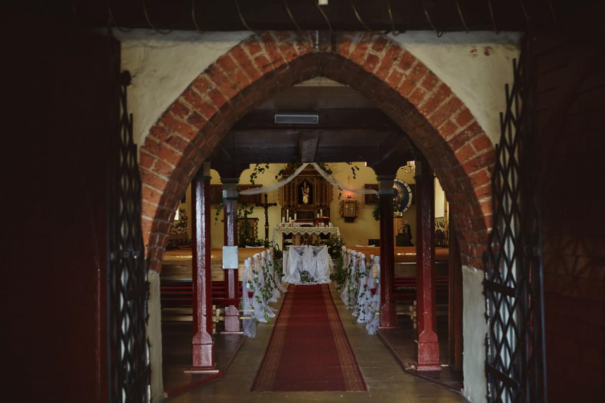 kosciół Przybiernów - wnętrze kościoła