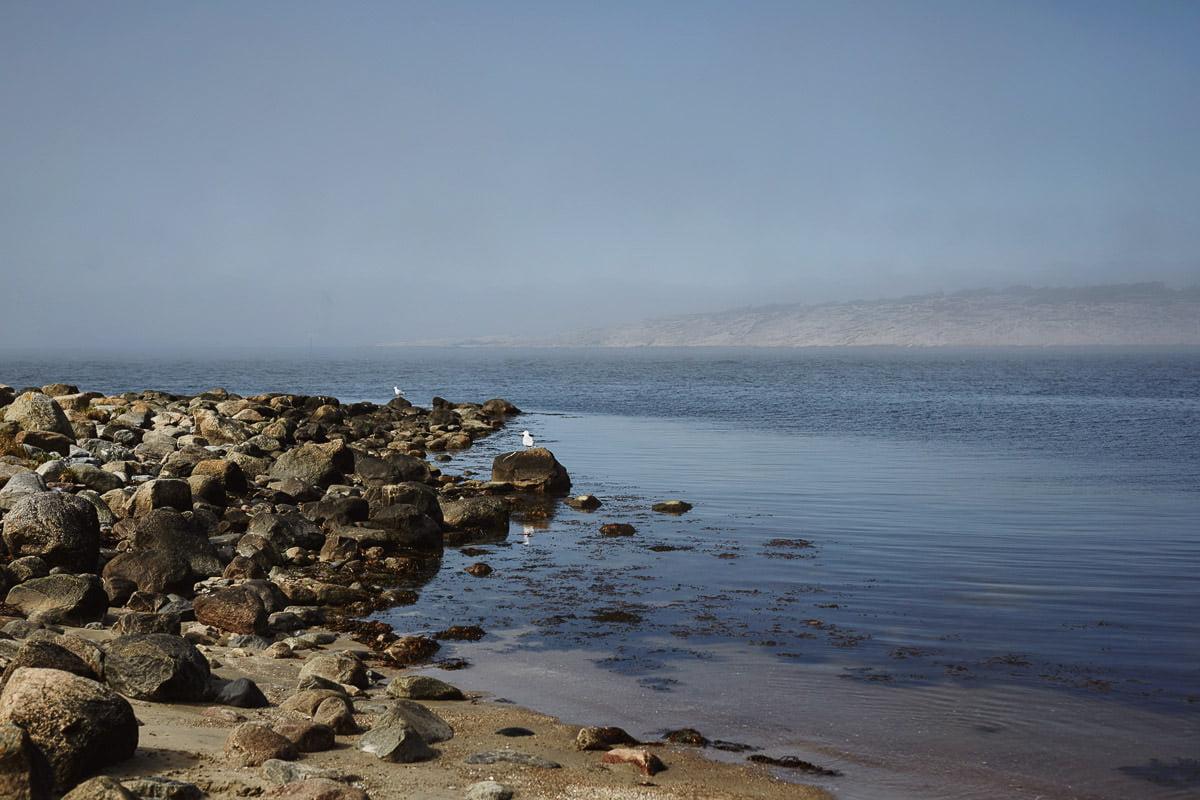 Norwegia kamienista plaża