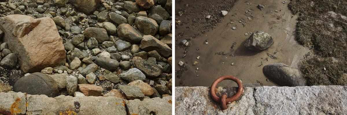kamienie i piasek