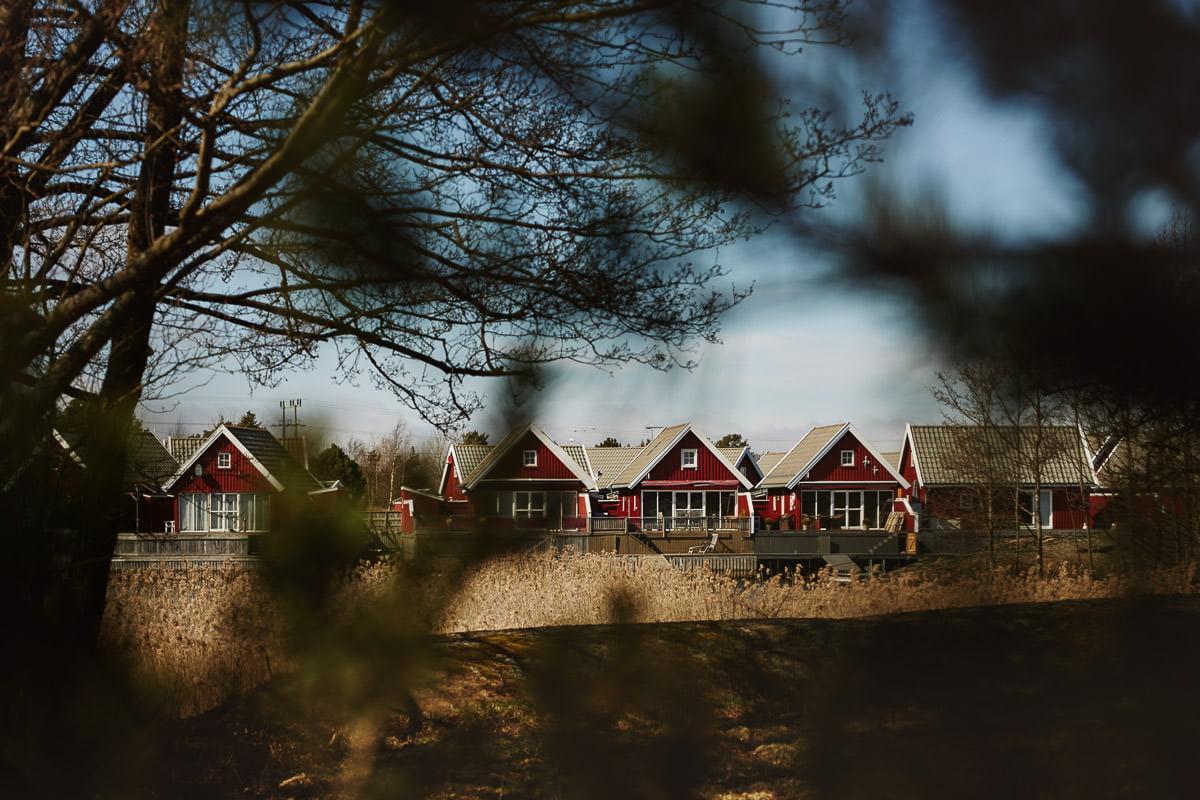 norweskie czerwone domki