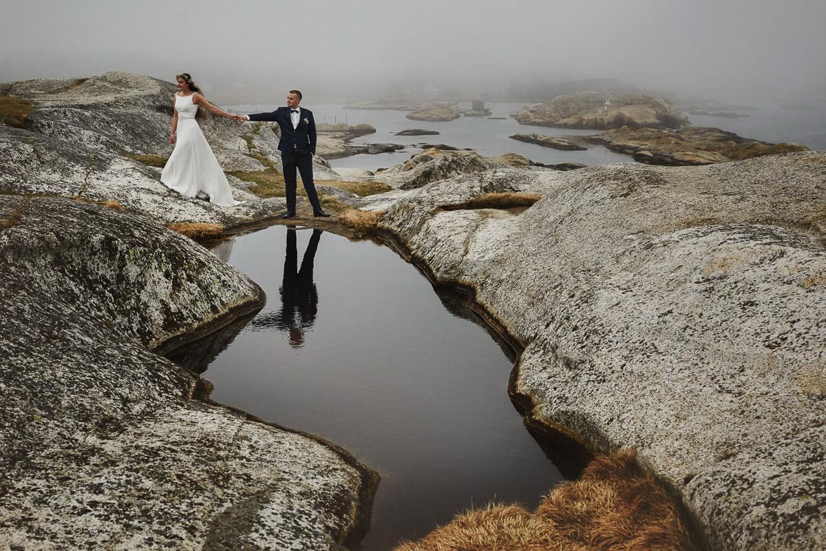 odbicie w wodzie - Norwegia