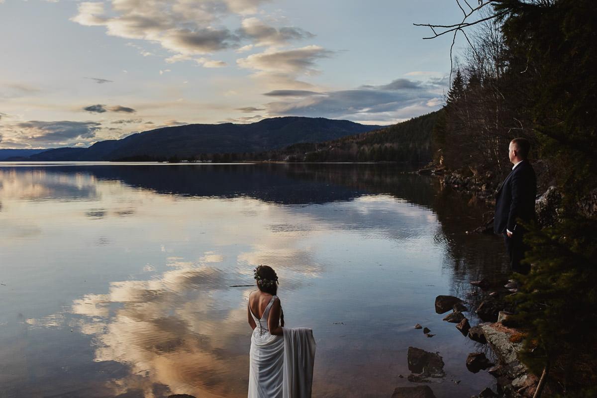 panna młoda na sesji w Norwegii