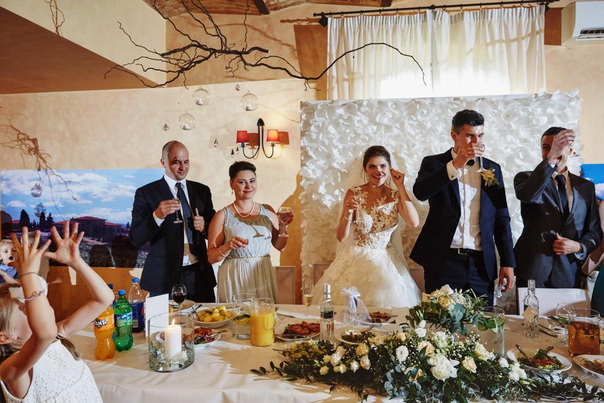 Villa Toskania - pierwszy toast