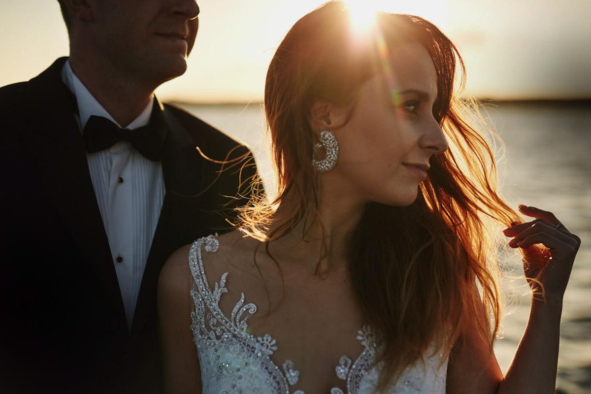 sesje ślubna nad morzem