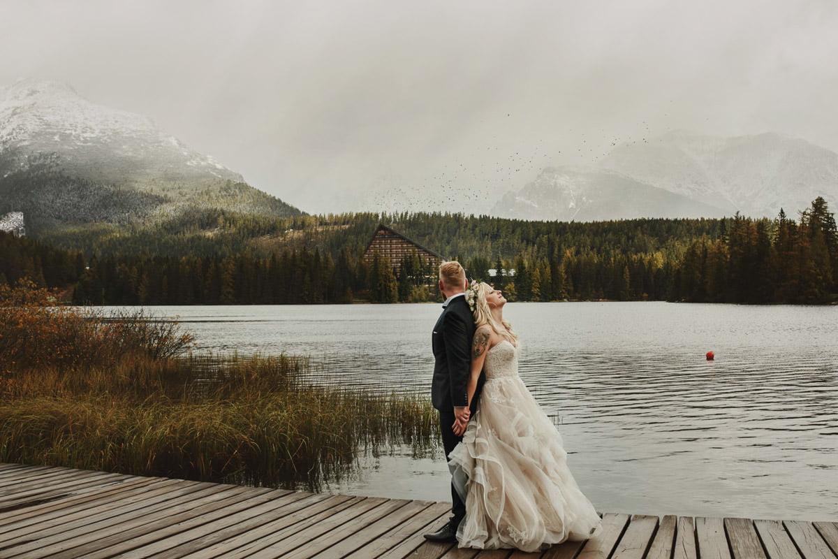 strebske pleso - plener ślubny