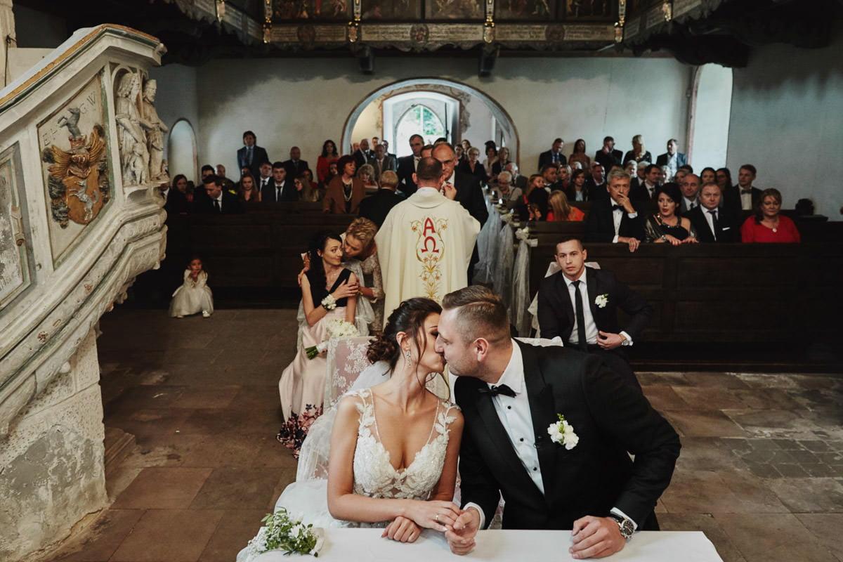 wieloplan podczas ceremonii ślubu