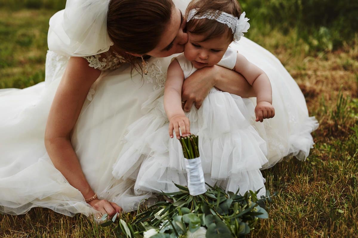 Pani Młoda z córką