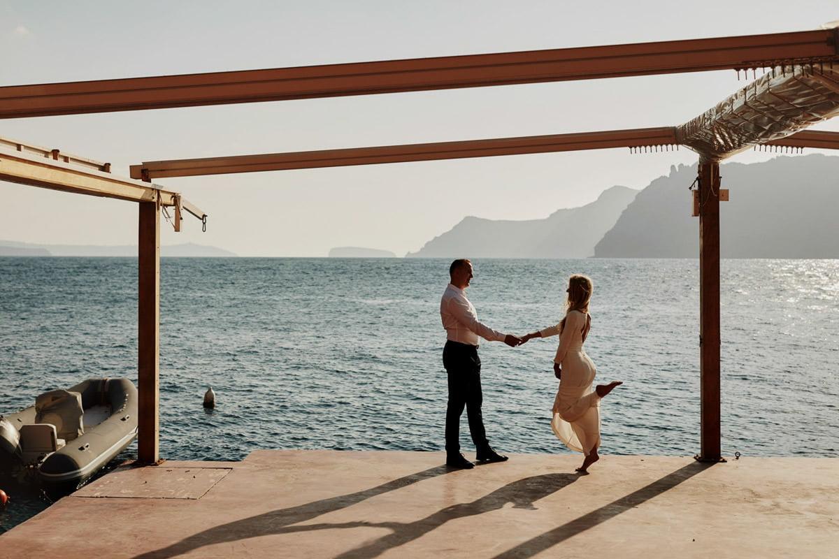 sesja plenerowa na Santorini