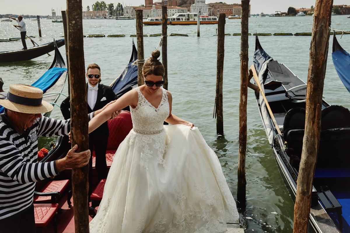 Gondolier w Wenecji