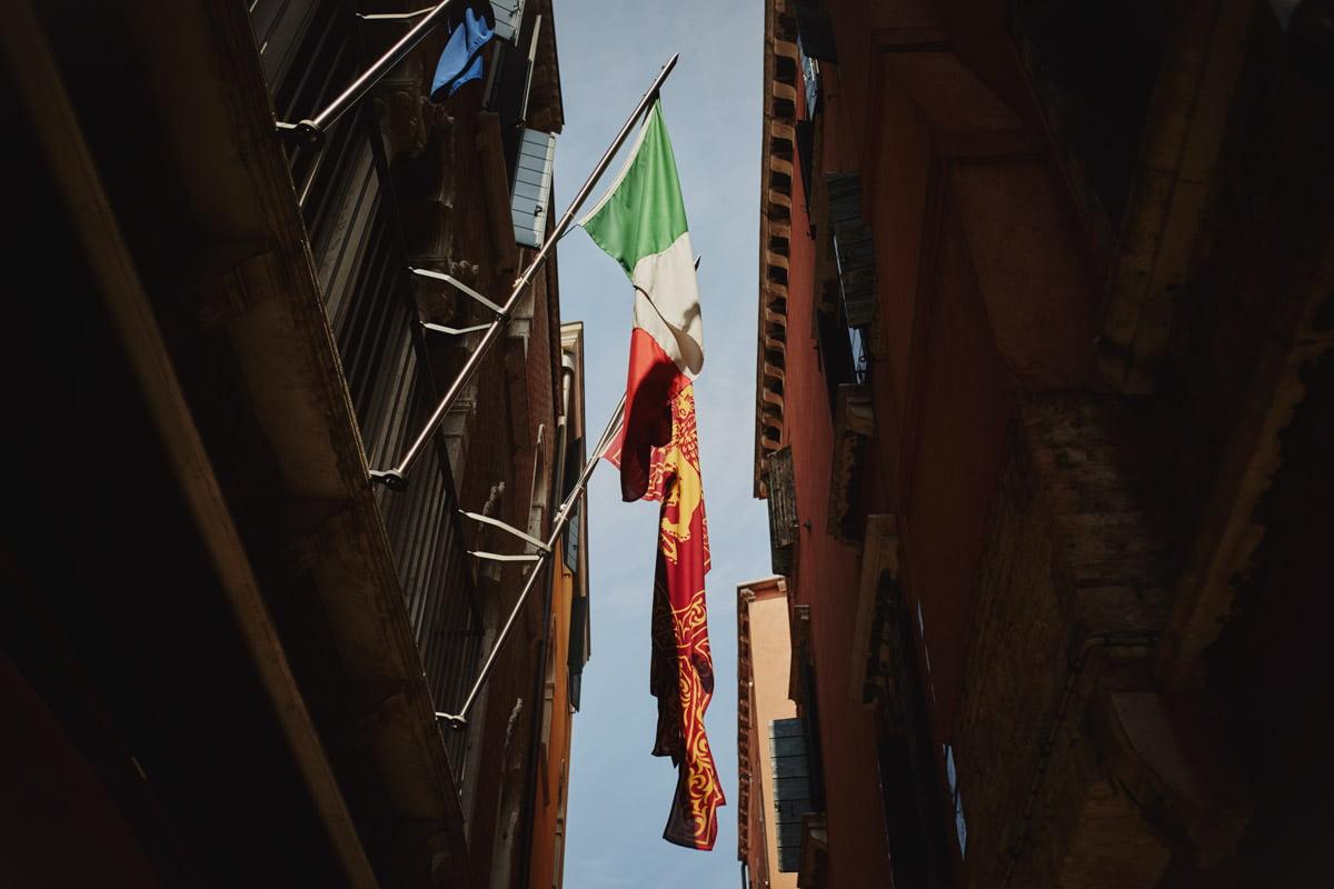 flaga Włoch i Wenecji