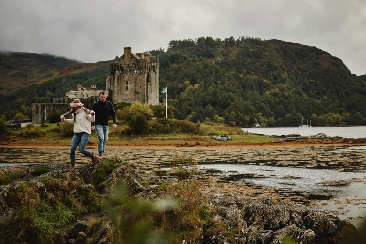 zamek Eilean Donan Castle od strony wody
