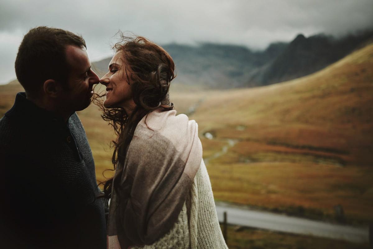 pocałunek w Szkocji