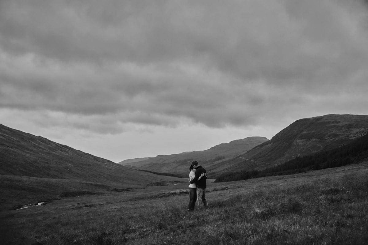 Widok na góry Szkocja