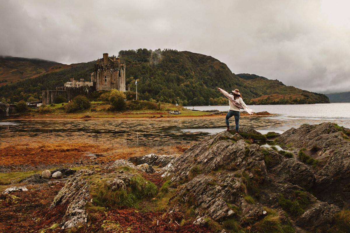 widok na zamek Eilean Donan