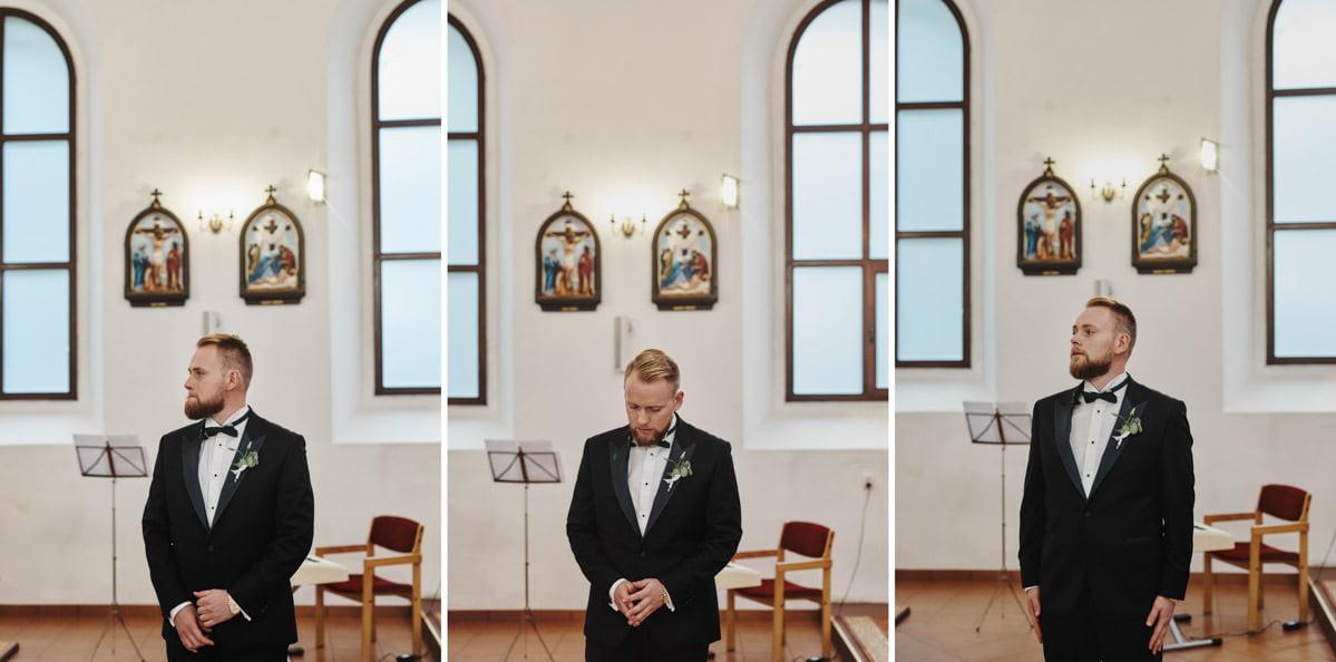 Pan Młody w kościele