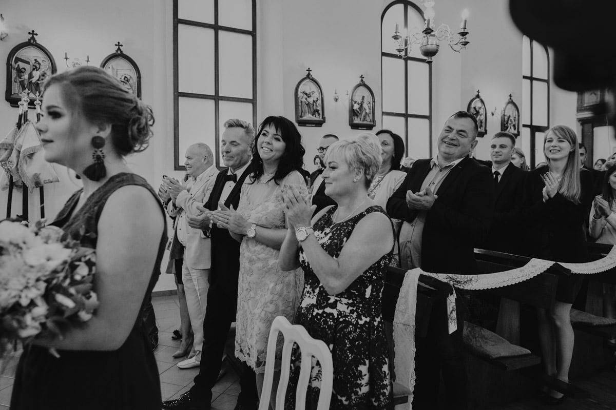 ceremonia ślubna - brawa